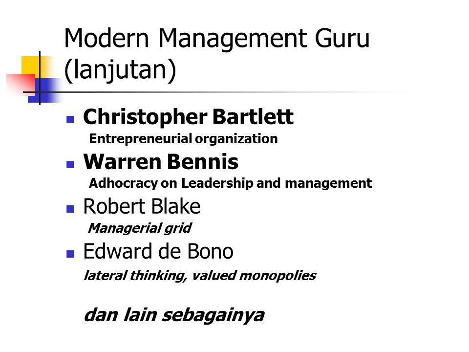 Modern Management Guru (lanjutan)