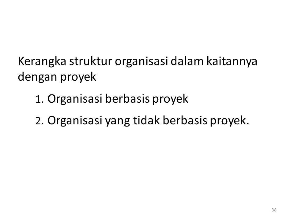 Kerangka struktur organisasi dalam kaitannya dengan proyek