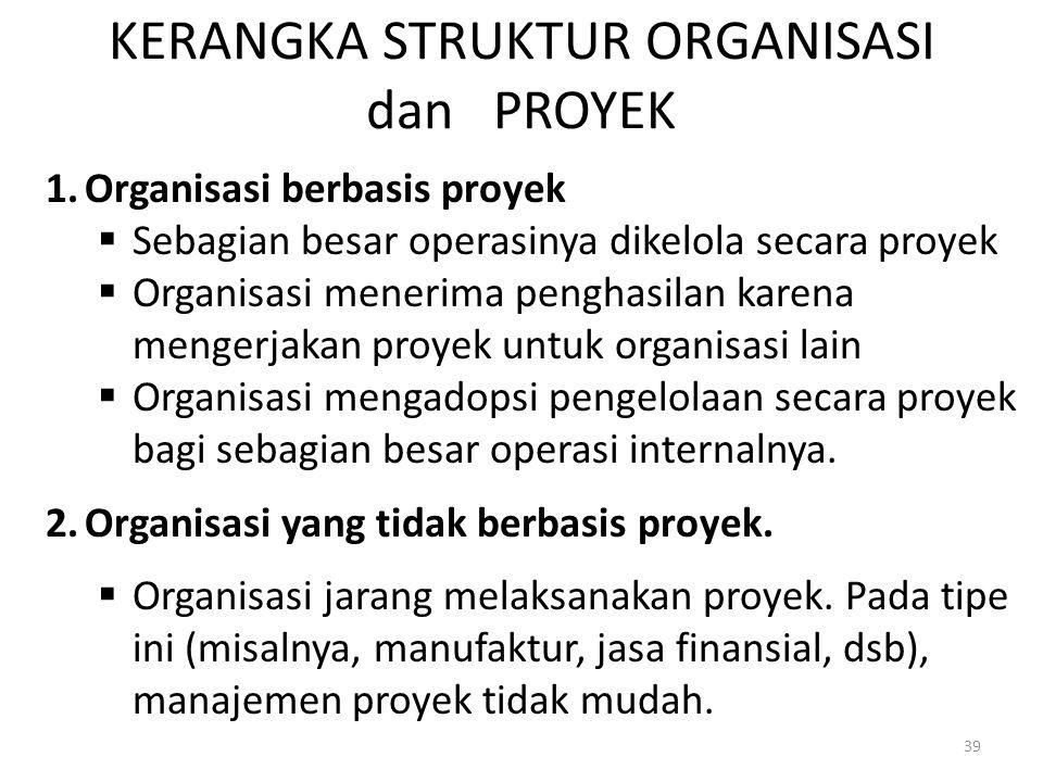 KERANGKA STRUKTUR ORGANISASI dan PROYEK