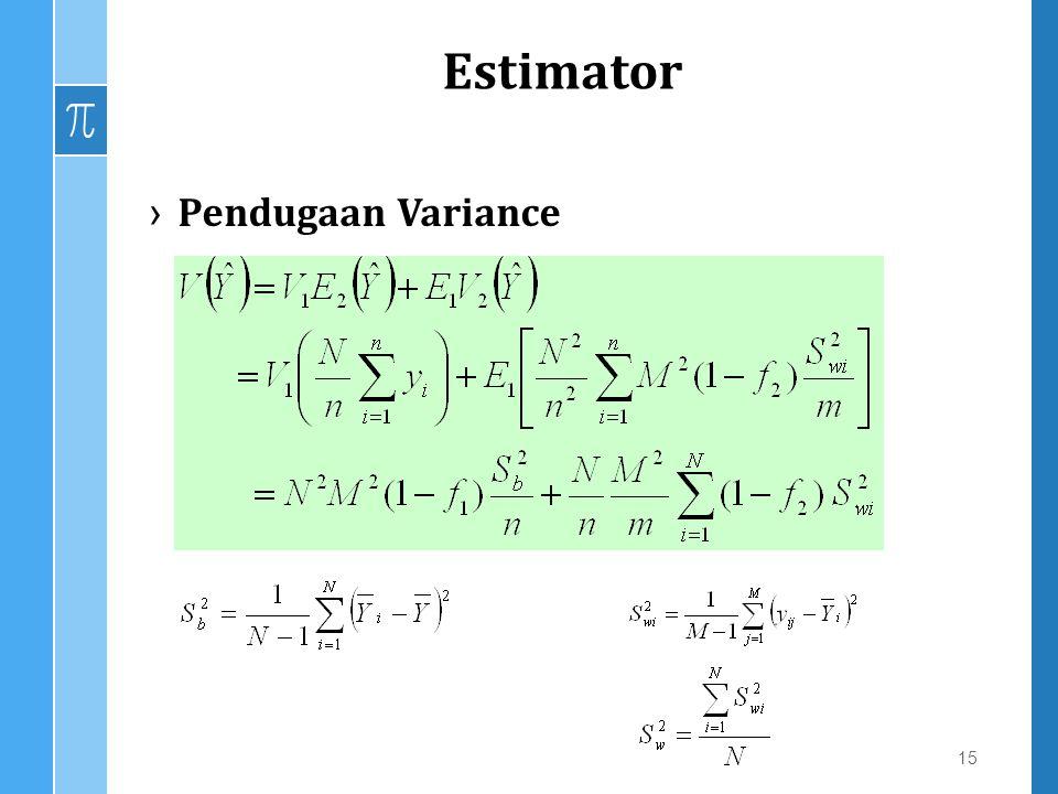 Estimator Pendugaan Variance