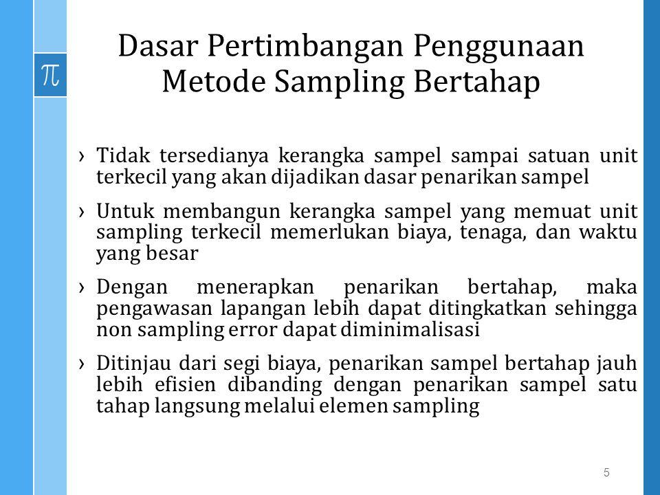 Dasar Pertimbangan Penggunaan Metode Sampling Bertahap