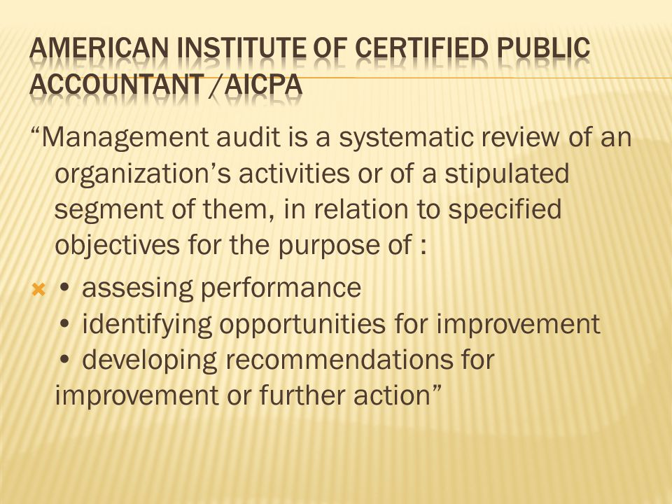 American Institute of Certified Public Accountant /AICPA