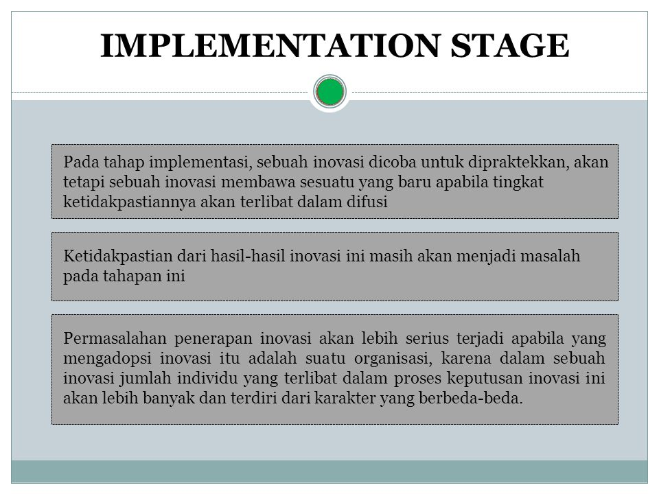 IMPLEMENTATION STAGE
