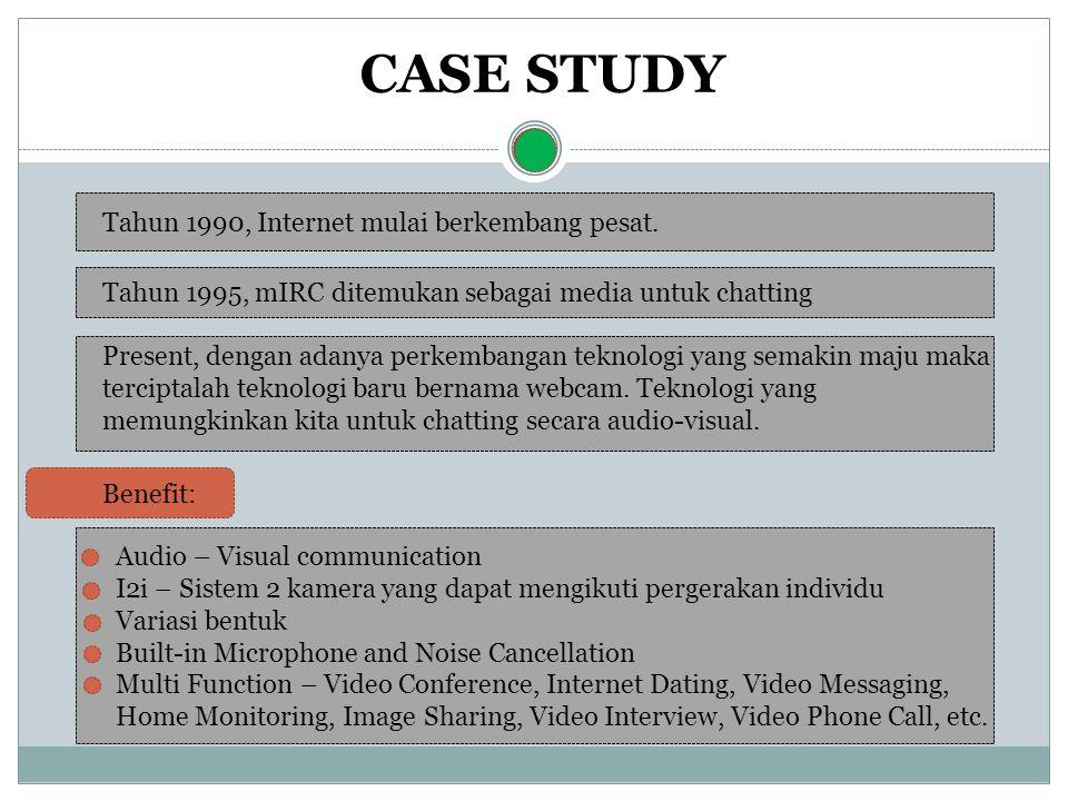 CASE STUDY Tahun 1990, Internet mulai berkembang pesat.