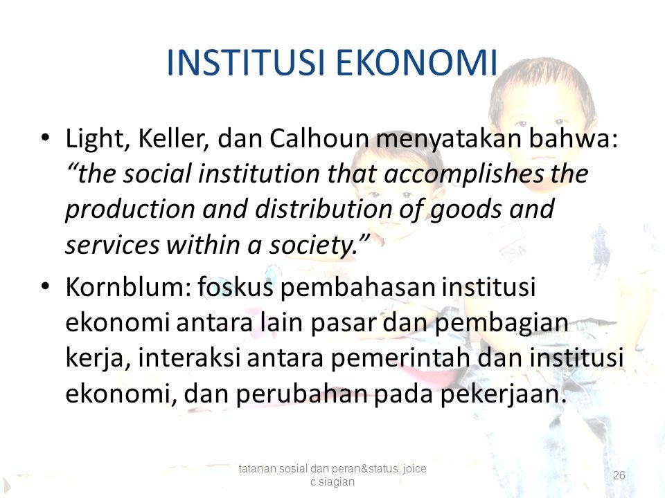 tatanan sosial dan peran&status, joice c.siagian