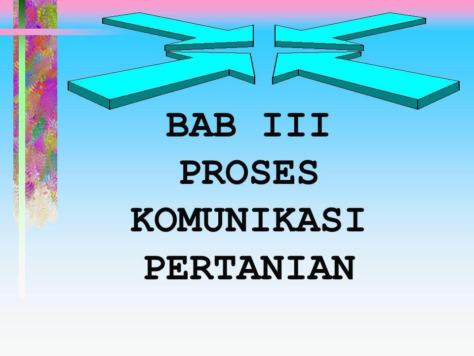 BAB III PROSES KOMUNIKASI PERTANIAN