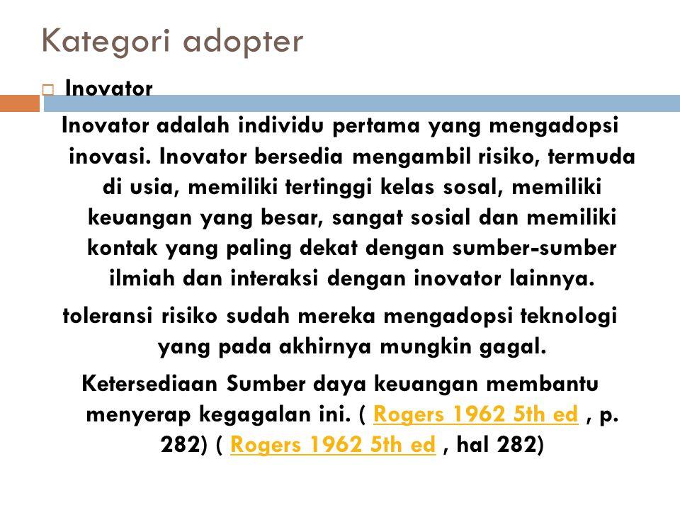 Kategori adopter Inovator