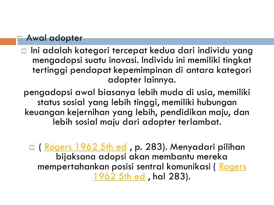 Awal adopter