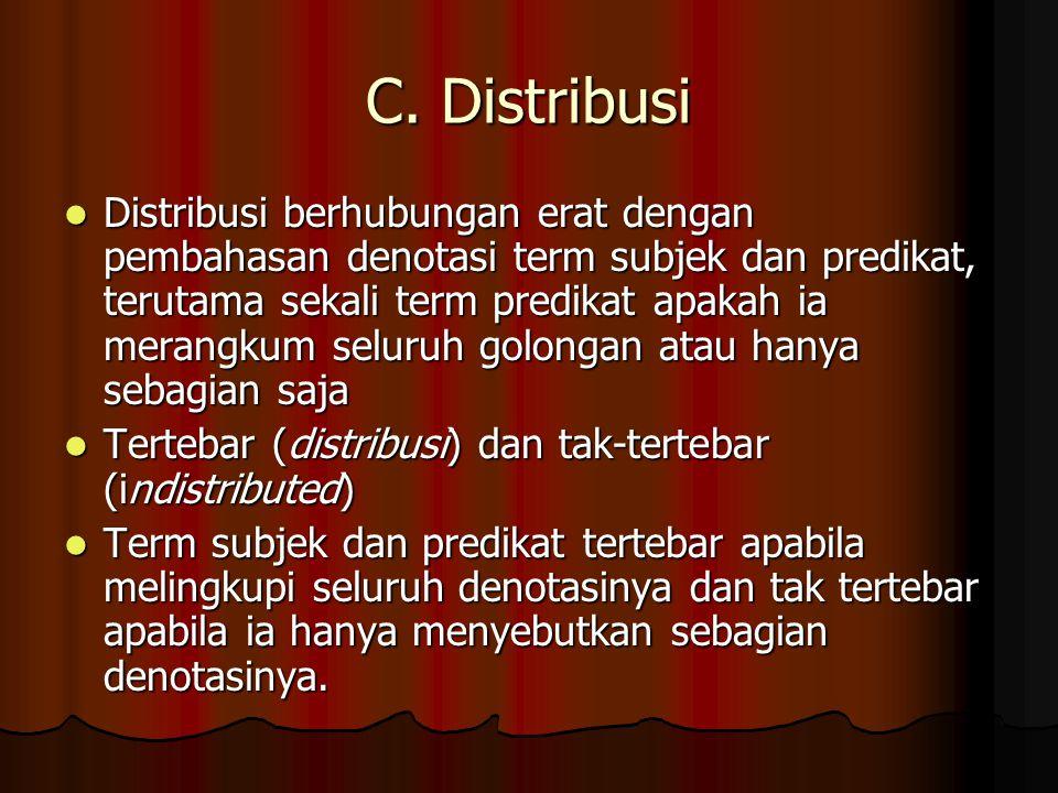 C. Distribusi