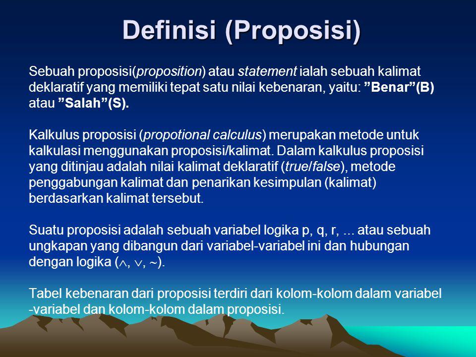 Definisi (Proposisi)