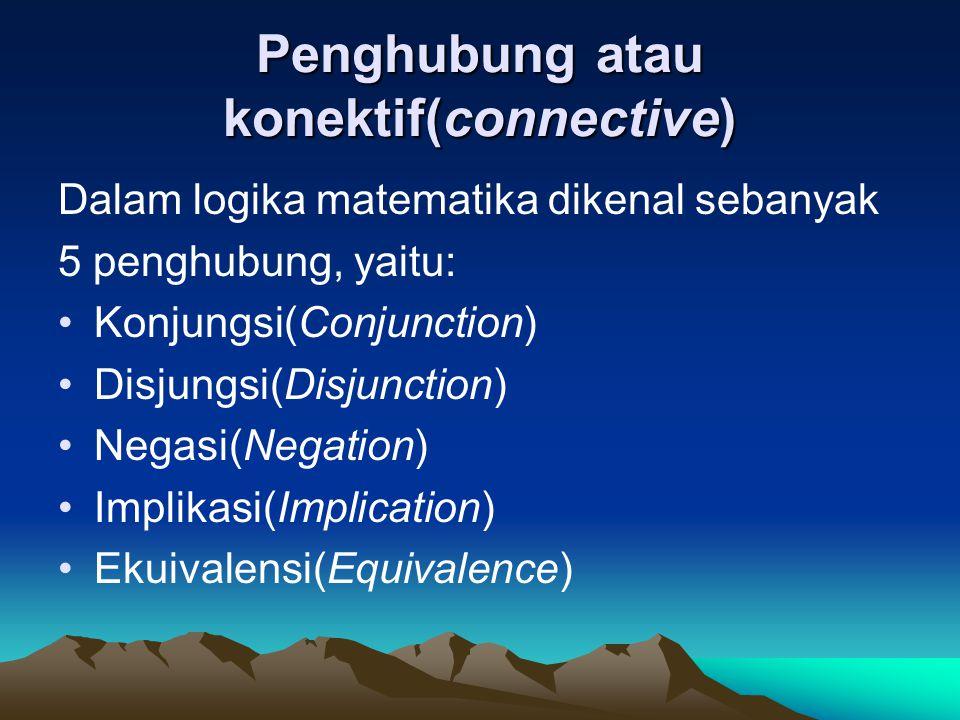 Penghubung atau konektif(connective)