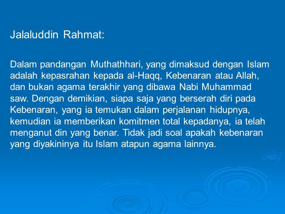 Jalaluddin Rahmat: