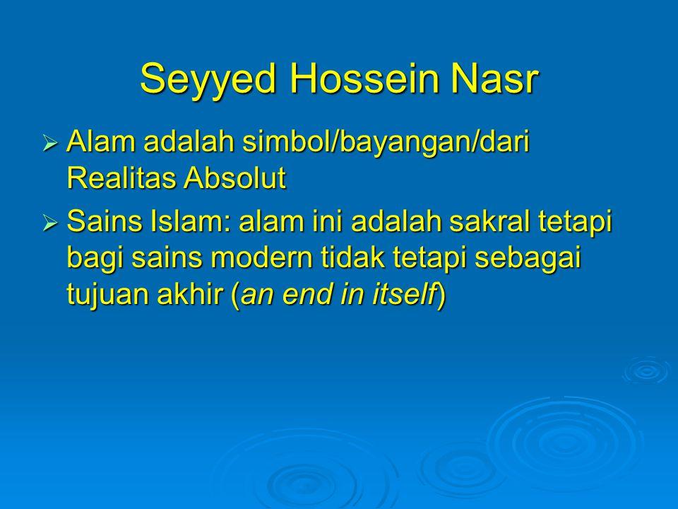 Seyyed Hossein Nasr Alam adalah simbol/bayangan/dari Realitas Absolut