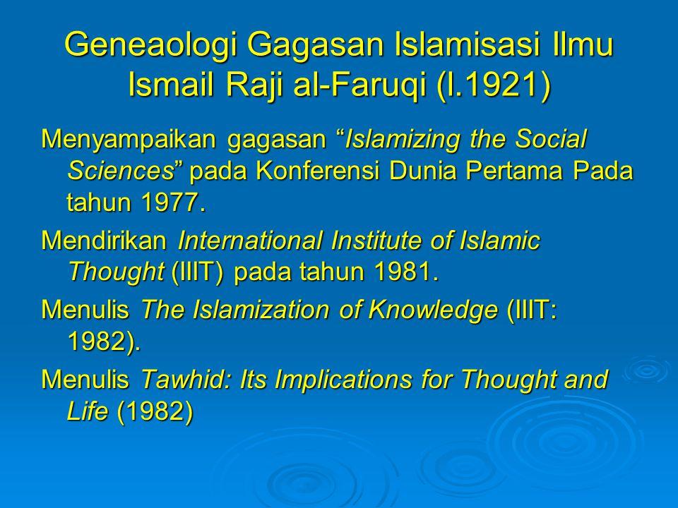 Geneaologi Gagasan Islamisasi Ilmu Ismail Raji al-Faruqi (l.1921)