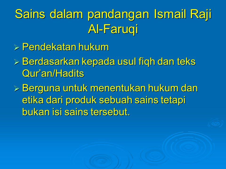 Sains dalam pandangan Ismail Raji Al-Faruqi