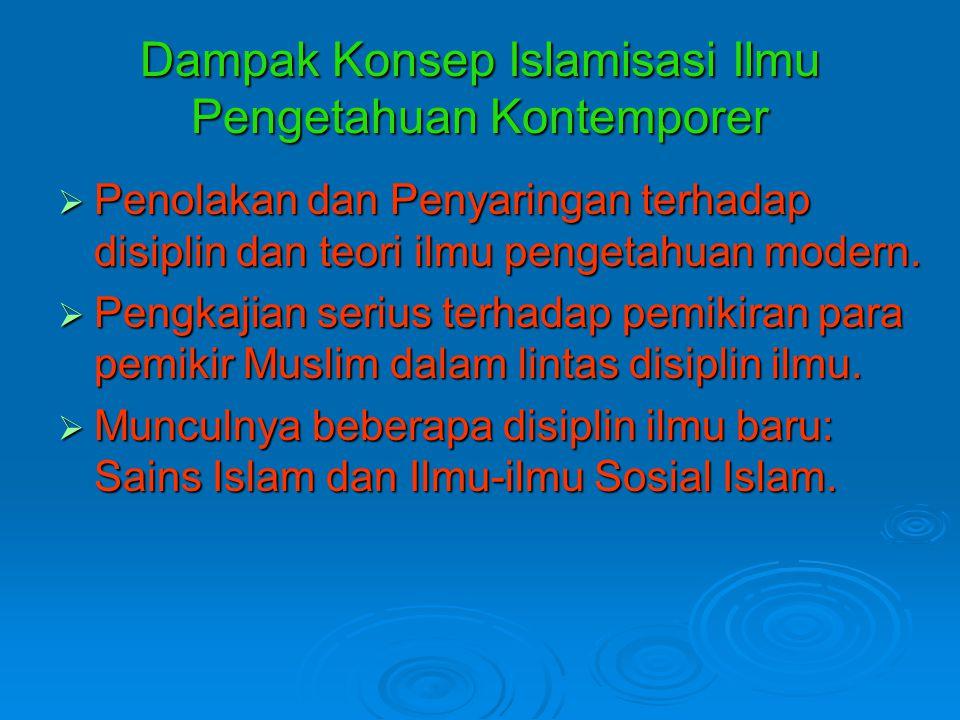 Dampak Konsep Islamisasi Ilmu Pengetahuan Kontemporer