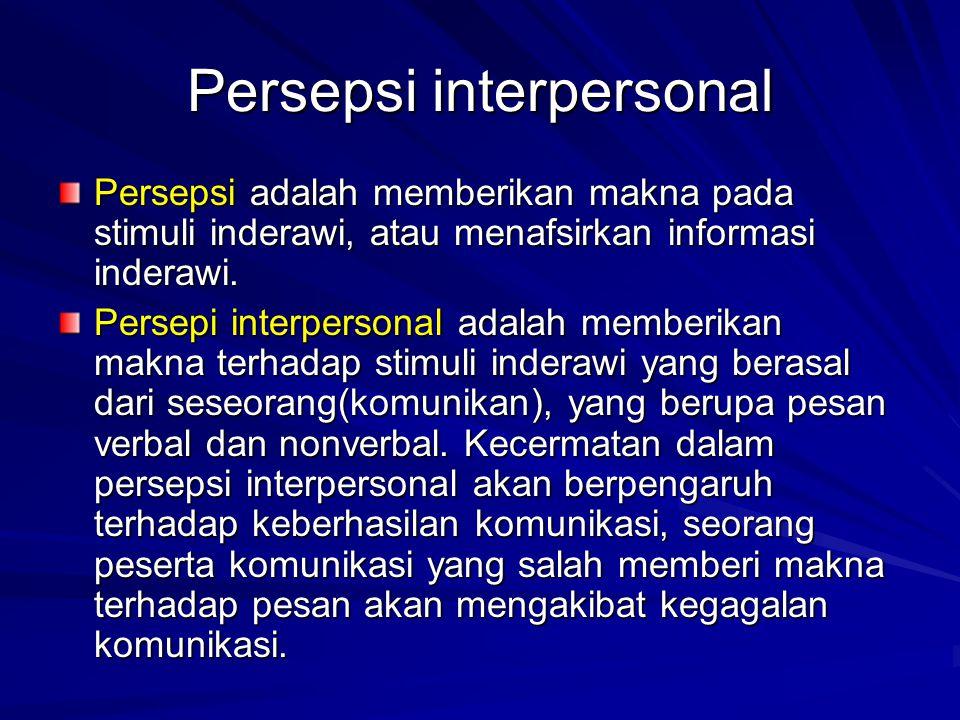 Persepsi interpersonal