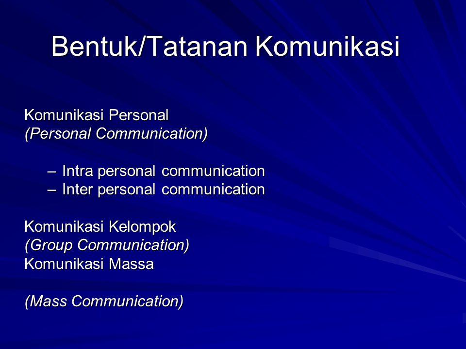 Bentuk/Tatanan Komunikasi