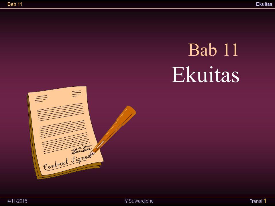 Bab 11 Ekuitas 4/11/2017
