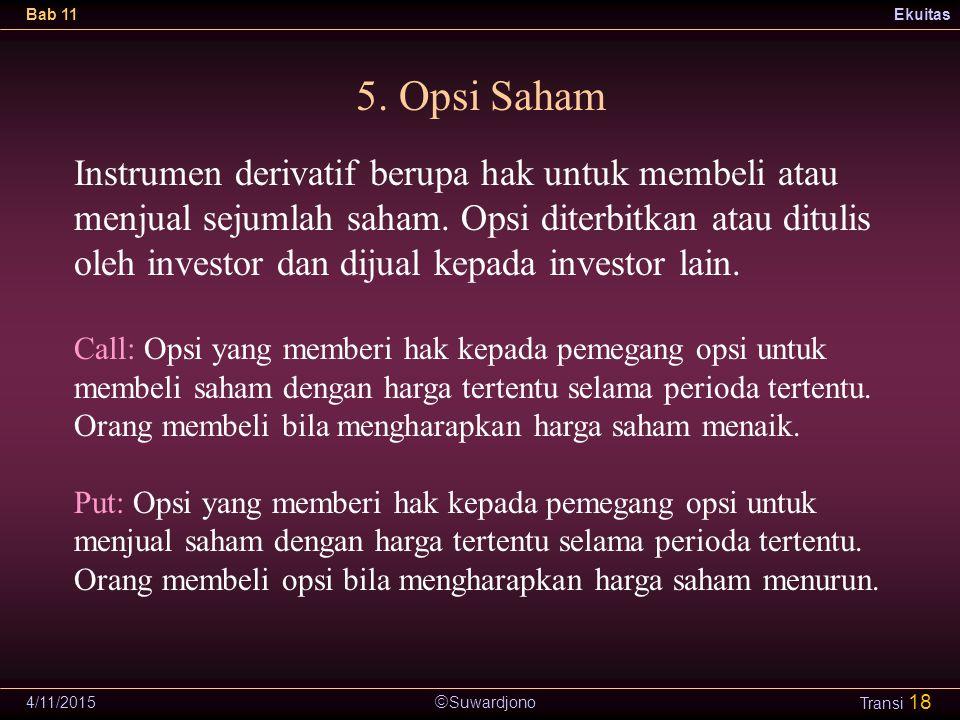 5. Opsi Saham