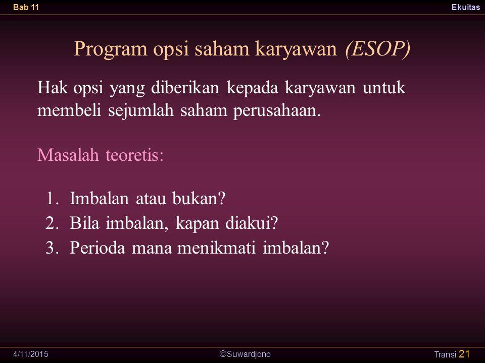 Program opsi saham karyawan (ESOP)