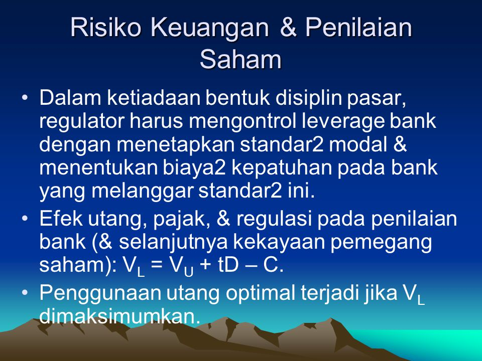 Risiko Keuangan & Penilaian Saham