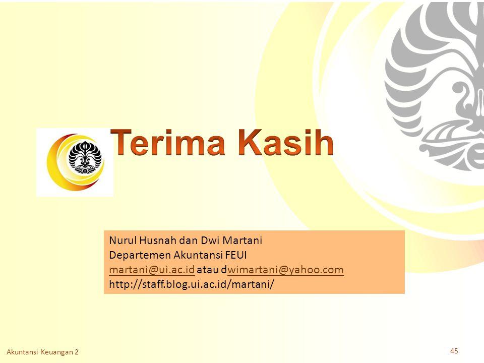 Terima Kasih Nurul Husnah dan Dwi Martani Departemen Akuntansi FEUI