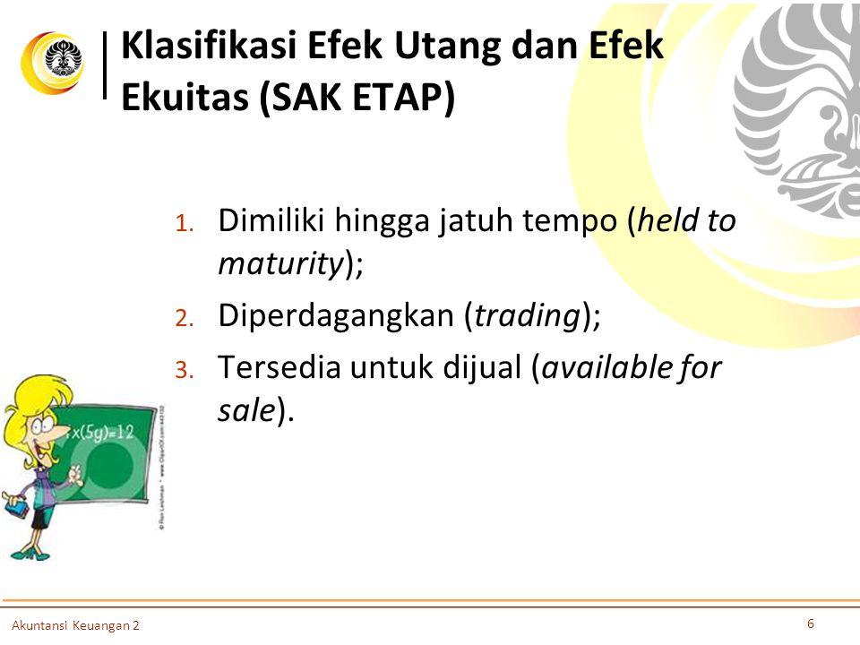 Klasifikasi Efek Utang dan Efek Ekuitas (SAK ETAP)