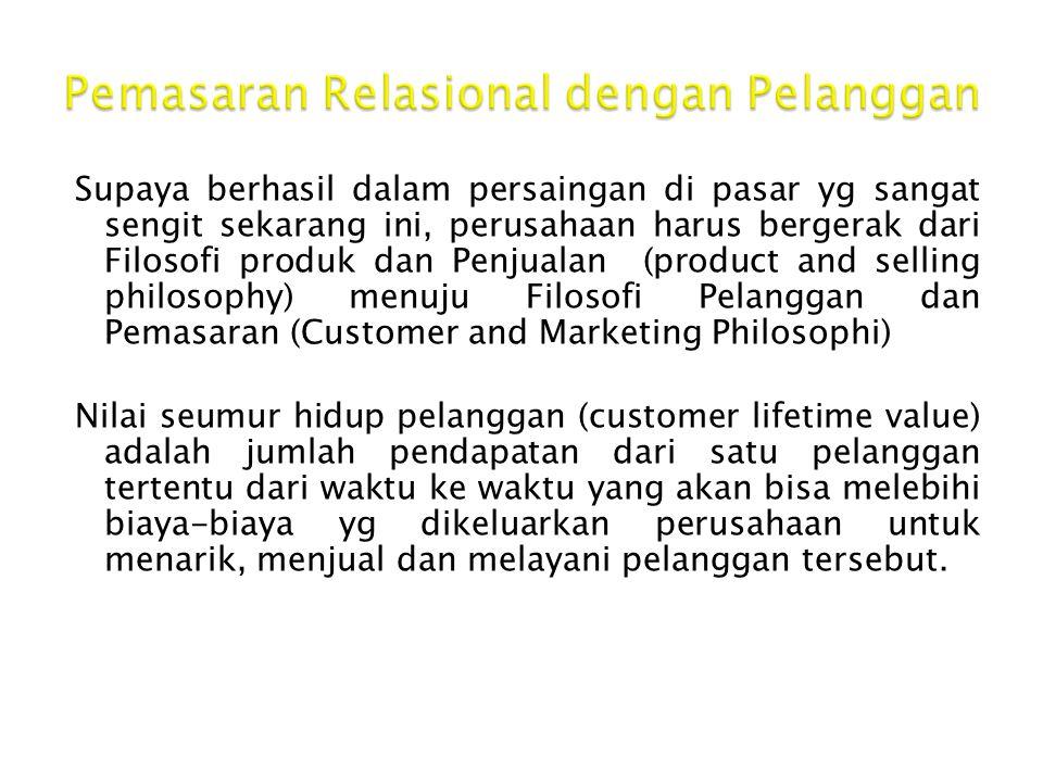 Pemasaran Relasional dengan Pelanggan