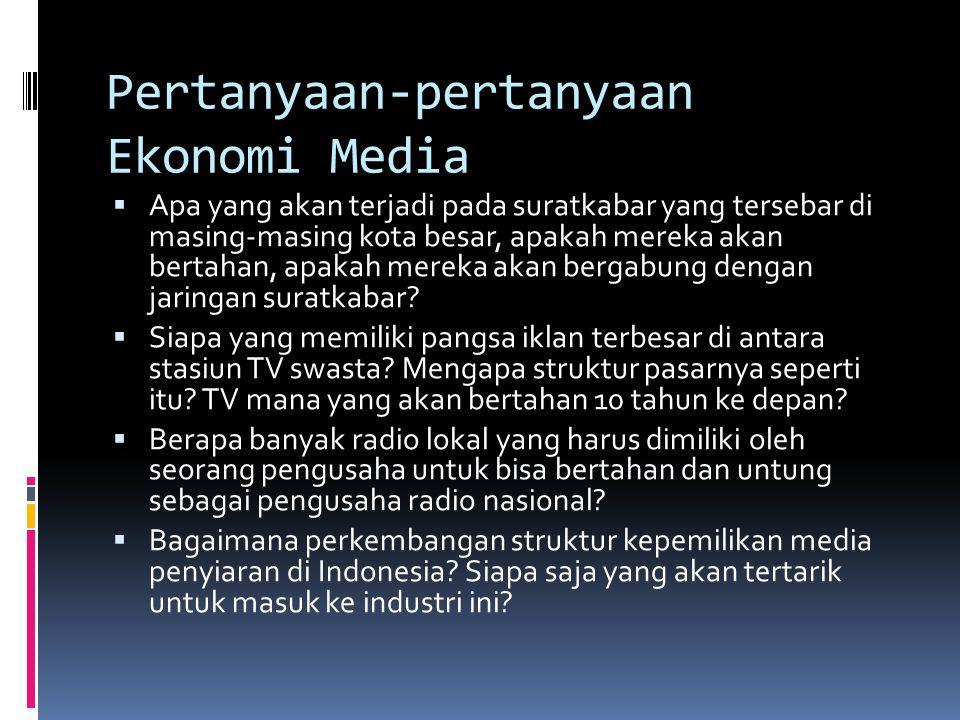Pertanyaan-pertanyaan Ekonomi Media