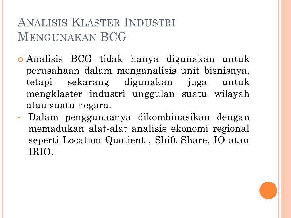 Analisis Klaster Industri Mengunakan BCG
