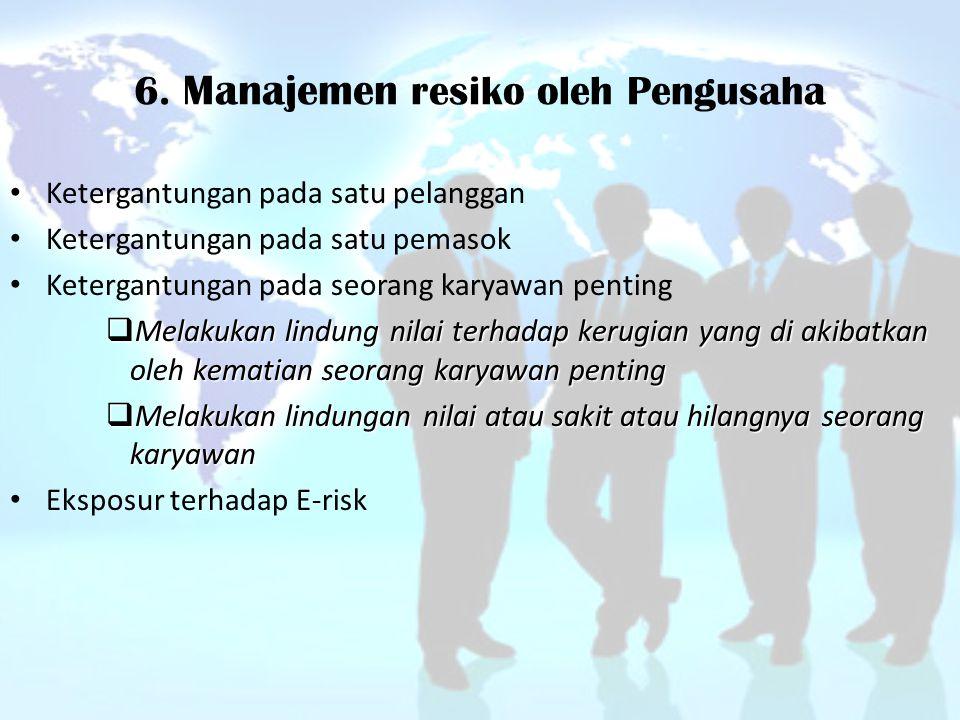 6. Manajemen resiko oleh Pengusaha