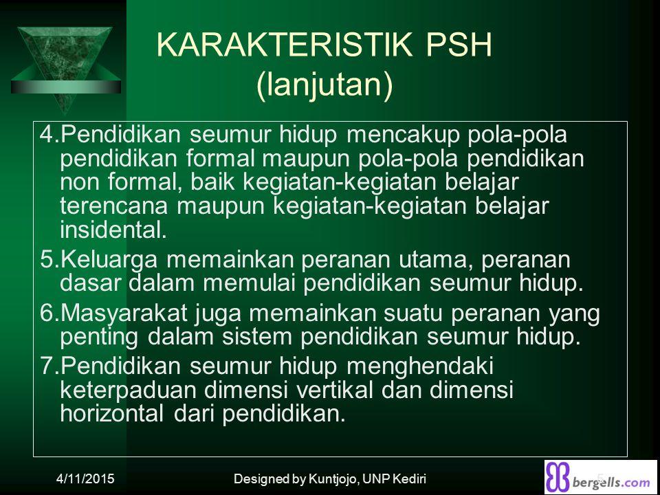 KARAKTERISTIK PSH (lanjutan)