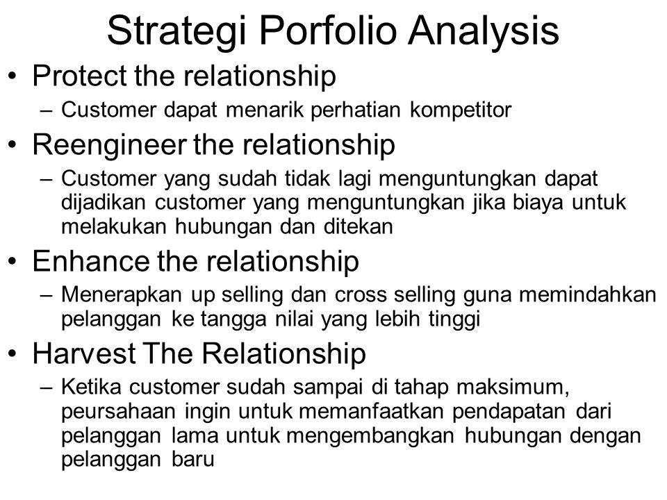 Strategi Porfolio Analysis