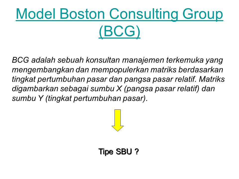 Model Boston Consulting Group (BCG)