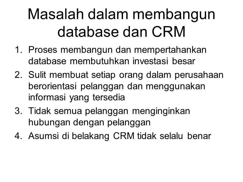 Masalah dalam membangun database dan CRM