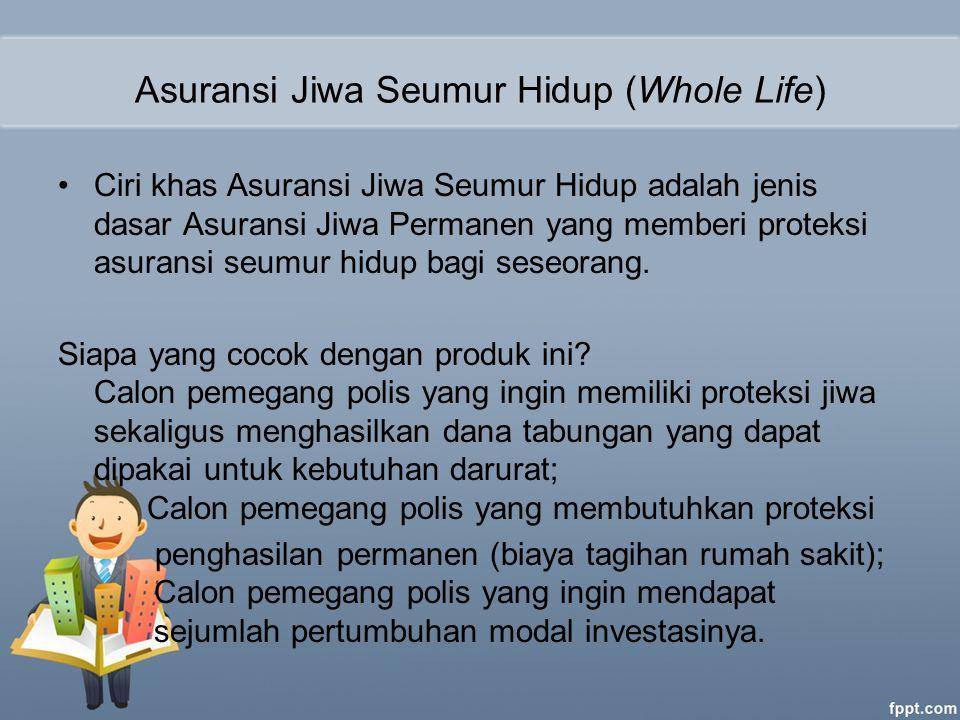 Asuransi Jiwa Seumur Hidup (Whole Life)