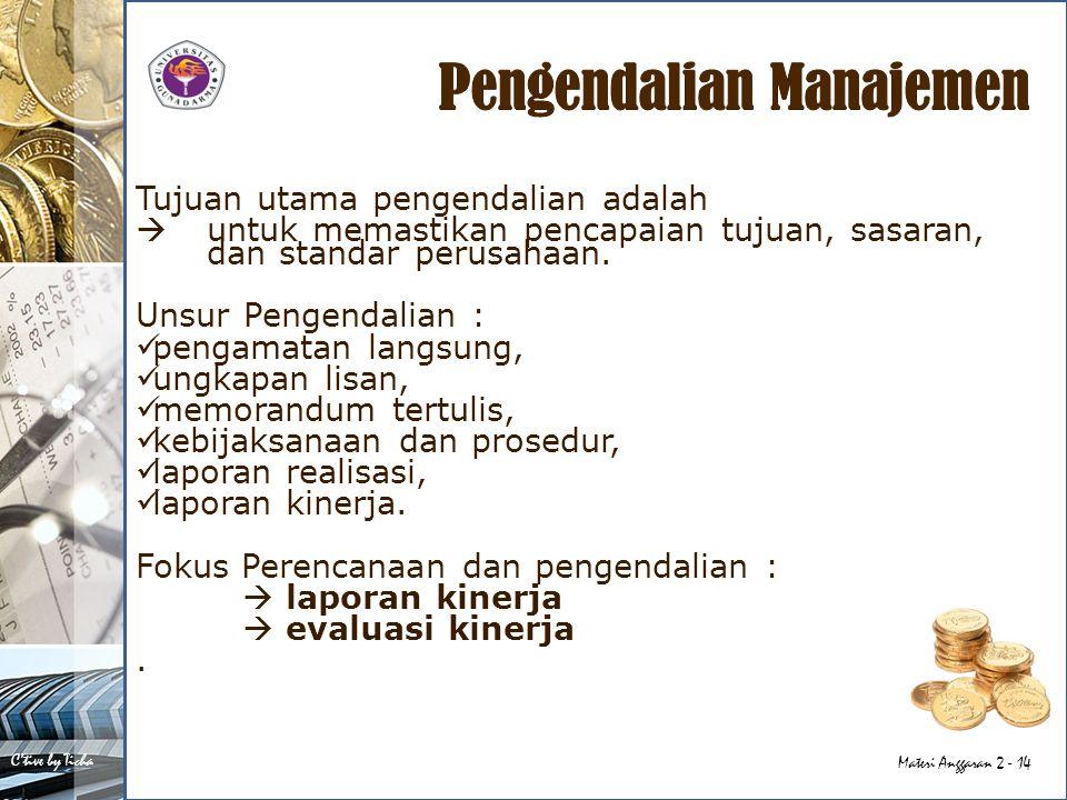Pengendalian Manajemen