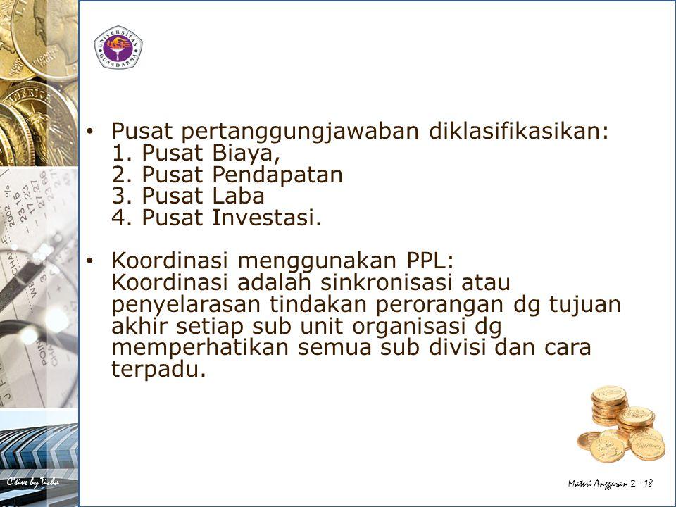 Pusat pertanggungjawaban diklasifikasikan: