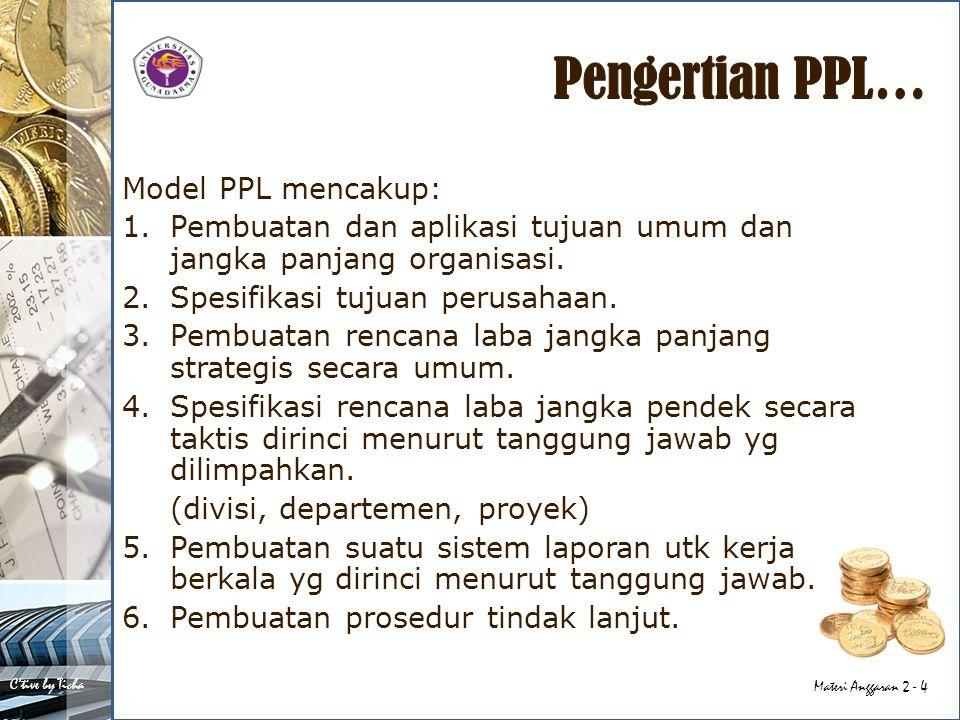 Pengertian PPL… Model PPL mencakup: