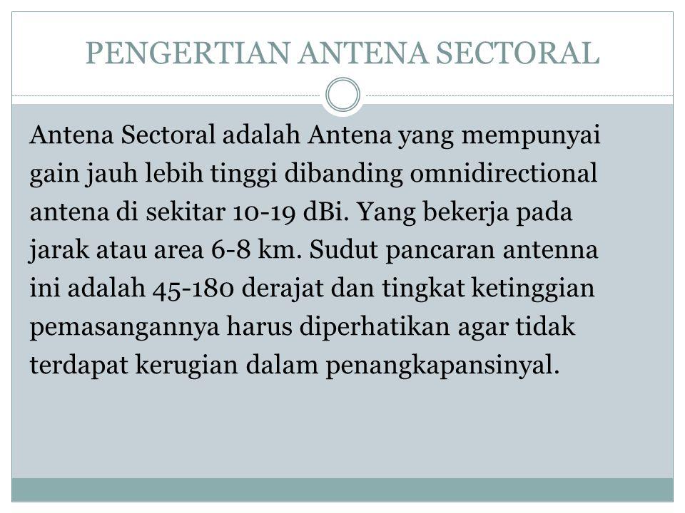 PENGERTIAN ANTENA SECTORAL