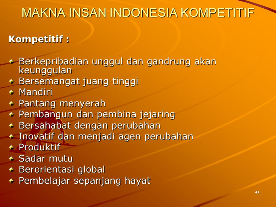 MAKNA INSAN INDONESIA KOMPETITIF