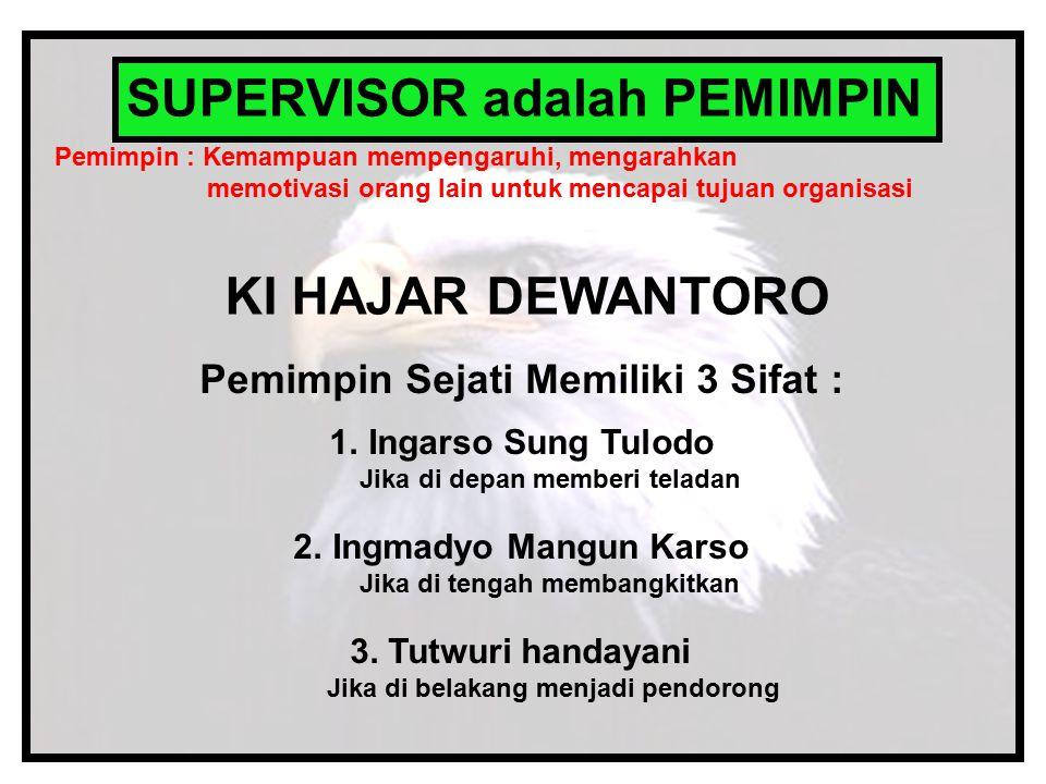 SUPERVISOR adalah PEMIMPIN