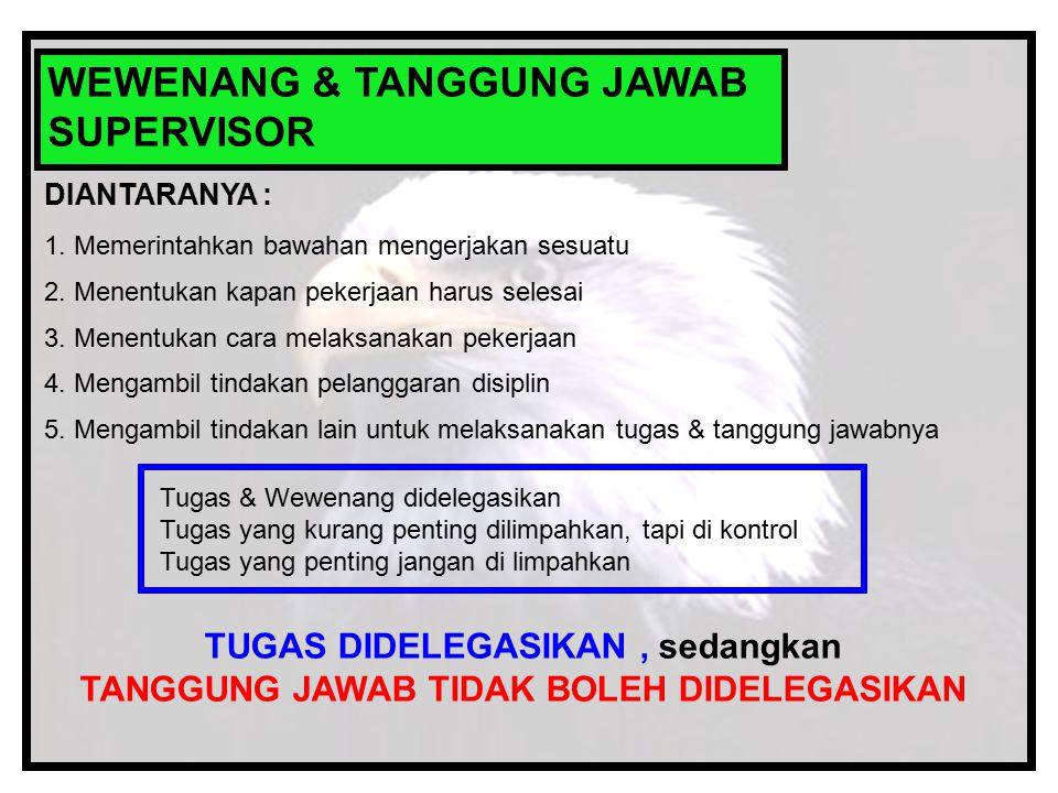 WEWENANG & TANGGUNG JAWAB SUPERVISOR