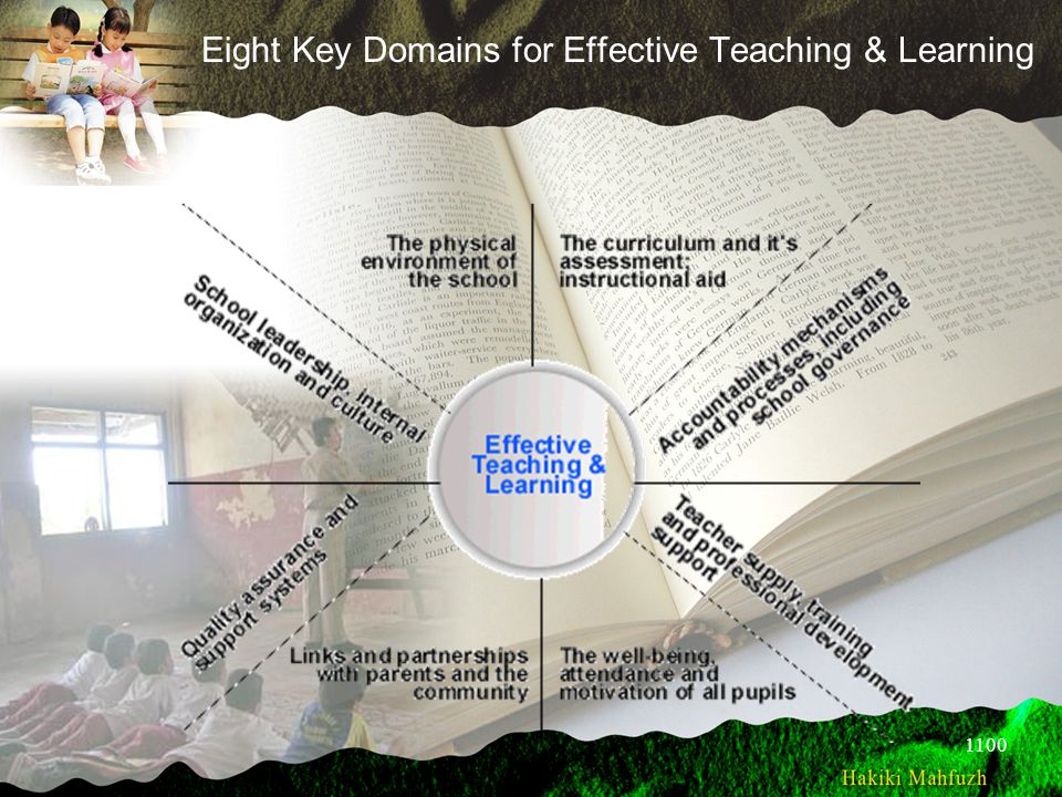 Eight Key Domains for Effective Teaching & Learning