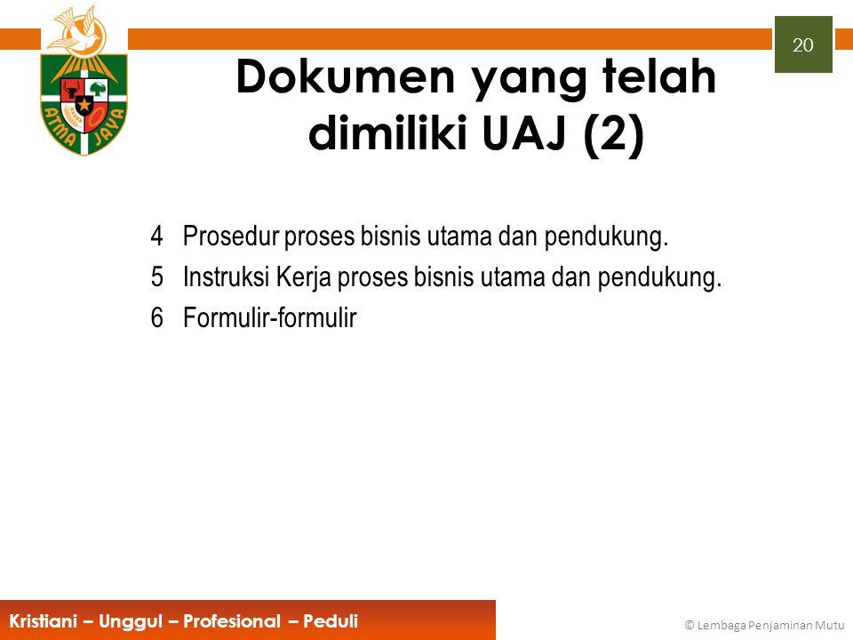 Dokumen yang telah dimiliki UAJ (2)