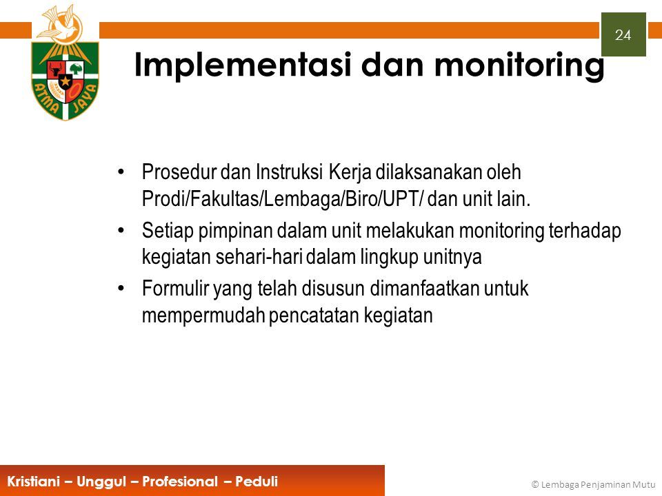 Implementasi dan monitoring