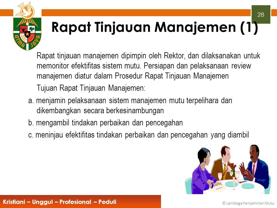 Rapat Tinjauan Manajemen (1)
