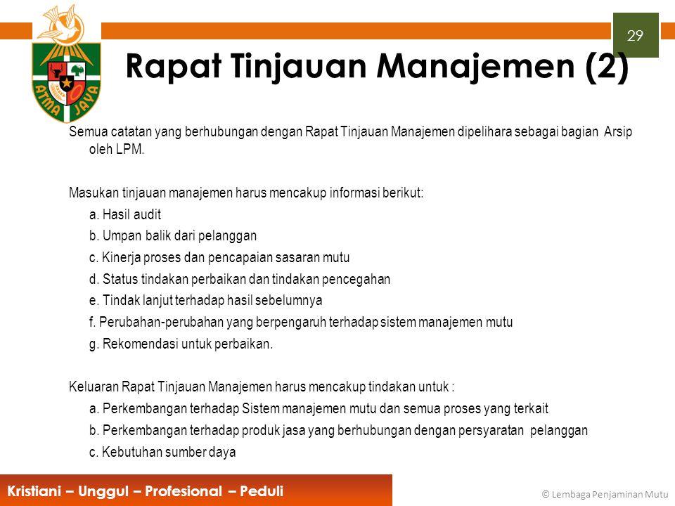 Rapat Tinjauan Manajemen (2)