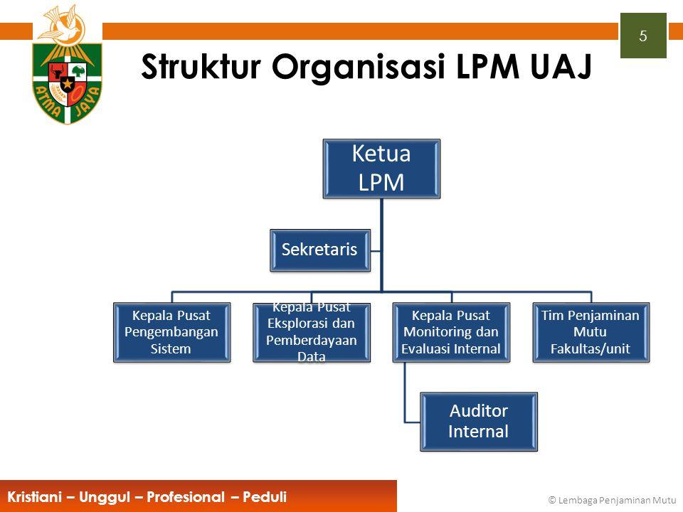 Struktur Organisasi LPM UAJ